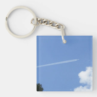 Jet in Flight Key Ring