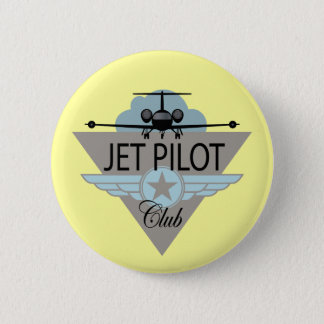 Jet Pilot Club 6 Cm Round Badge