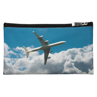 Jet Plane Ascending into Clouds Cosmetic Bag
