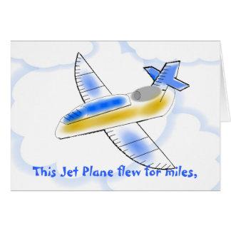 Jet Plane Birthday Card