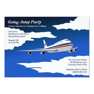 Jet Plane Going Away Party Invitation