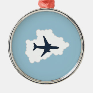 Jet Plane In a Cloud Christmas Ornament
