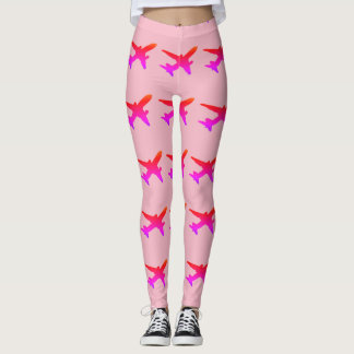 Jet Silhouette Rainbow Gradient Leggings