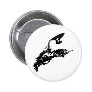 Jet ski big jump 6 cm round badge