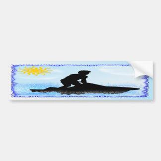 Jet Ski Dreams Car Bumper Sticker