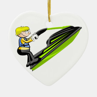 Jet ski fan christmas ornament