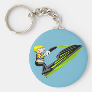 Jet ski fan key ring