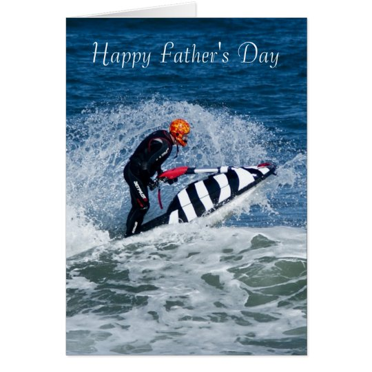 Jet Ski Father's Day Greeting Card