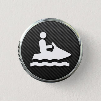 Jet Ski Icon 3 Cm Round Badge