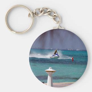Jet Ski Paradise Basic Round Button Key Ring
