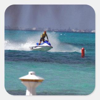 Jet Ski Paradise Square Sticker