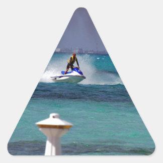 Jet Ski Paradise Triangle Sticker
