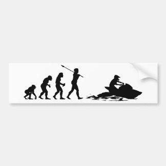 Jet Skier Bumper Sticker