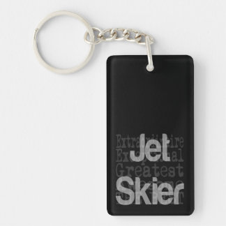Jet Skier Extraordinaire Double-Sided Rectangular Acrylic Key Ring