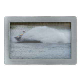 Jet Skier on Lake Belt Buckle