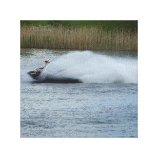 Jet Skier on Lake Canvas Print