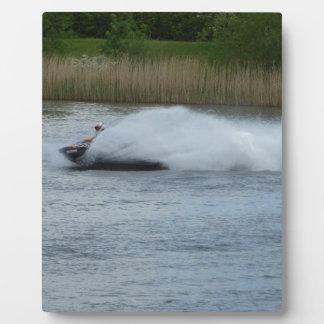Jet Skier on Lake Plaque