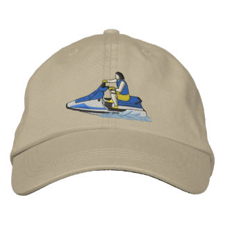 Jet Skier (sitting) Embroidered Cap