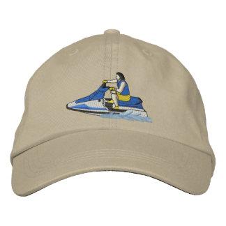 Jet Skier sitting Embroidered Baseball Caps