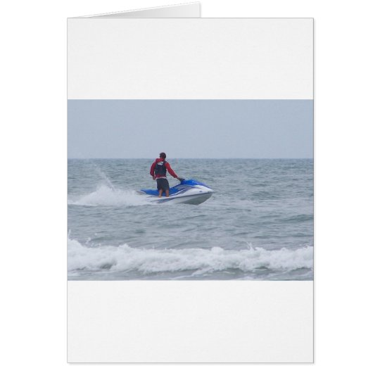 jet skiing at the beach card
