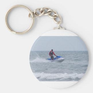 jet skiing at the beach key ring