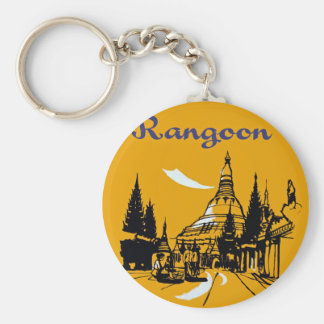 Jet Your Way to Rangoon Key Ring