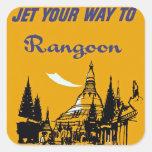Jet Your Way to Rangoon Sticker