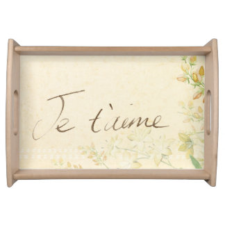'Jet'aime' - French Vintage Victorian Floral Serving Tray