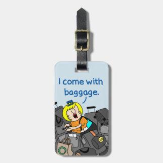 Jetlagged Comic | I Come with Baggage Luggage Tag