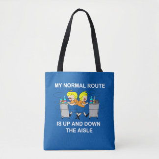 Jetlagged Comic | My Normal Route Tote Bag