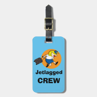 Jetlagged Crew Luggage Tag