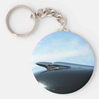 jetliner basic round button key ring
