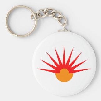 Jets semi-circle rays semicircle key chain