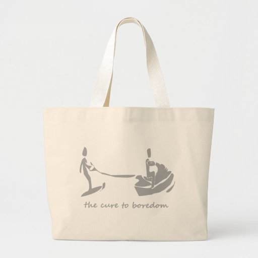 Jetski/waterskiing is the cure to boredom canvas bag
