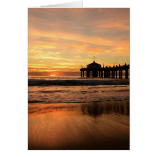 Jetty at Sunset Card