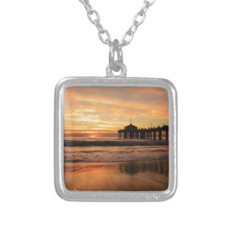 Jetty at Sunset Silver Plated Necklace