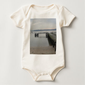 Jetty on Poole Harbour Baby Bodysuit