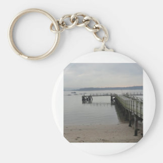Jetty on Poole Harbour Key Ring