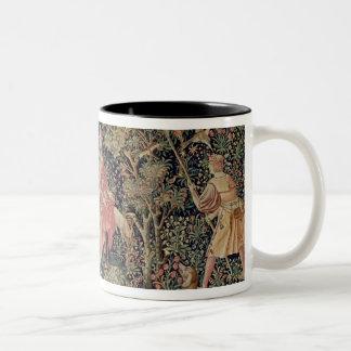 Jeu de Marelle et Cueillette de Fruits' Two-Tone Coffee Mug
