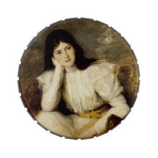 Jeune Fille Reveuse, Portrait de Berthi Capel Jelly Belly Candy Tins