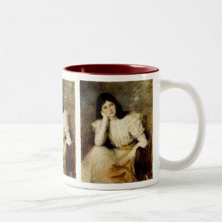 Jeune Fille Reveuse Portrait de Berthi Capel Coffee Mugs