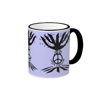 Jew for Peace (Black) Mugs