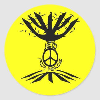 Jew for Peace (Black) Stickers
