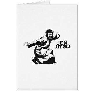 Jew Jitsu Greeting Card