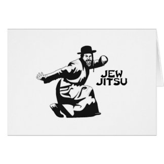 Jew Jitsu Martial Arts | Jewish Bar Mitzvah Gifts Card