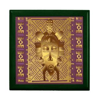 Jewel box Masks gilded Large Square Gift Box