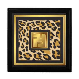 Jewel box panther large square gift box