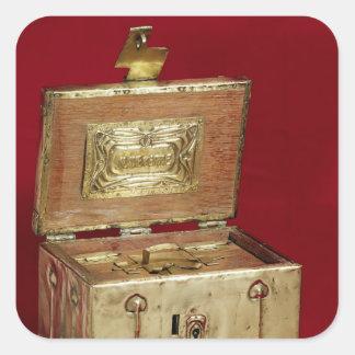 Jewel box square sticker