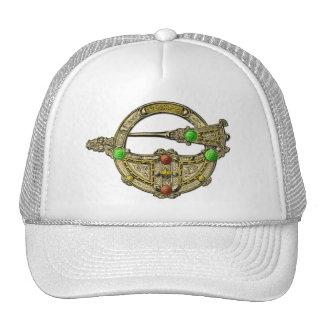 Jewel Brooch Bronze Dress Fastening Hat