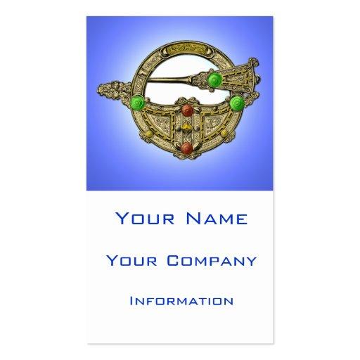 Jewel Brooch Bronze Emerald Gem Business Card